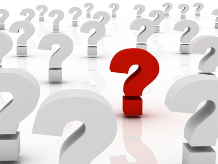 frequently: Too Many Question marks, only one red