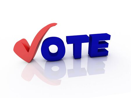 Vote text with check mark Stock Photo - 15815712