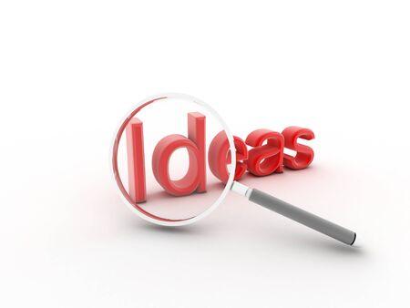 word Idea, the is a 3d render illustration Stock Illustration - 16145953