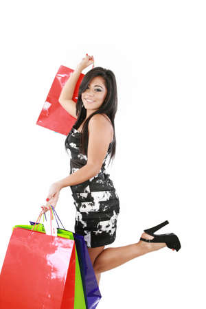 picture of lovely woman with shopping bags Stock Photo - 16305887