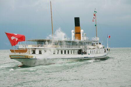 Passenger cruise in Pully of Lake of Geneva, Switzerland  Stock Photo - 16712627