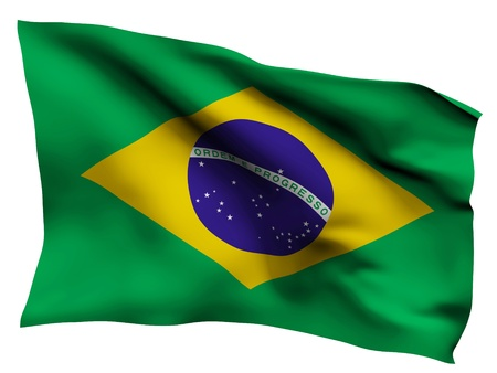 Brazil flag satin texture  Stock Photo - 16855394