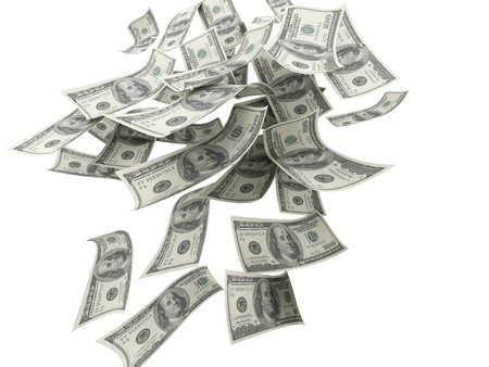 Falling Money $100 Bills  Stock Photo - 16855396