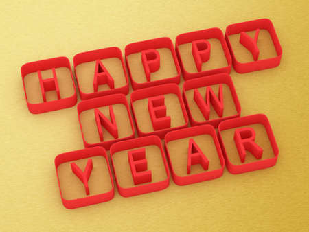 3D Happy New Year Stock Photo - 16855397