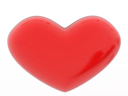 Love heart shape. Romantic feeling concept. Beautiful life symbol. Valentine's Day greeting card design element. Stock Photo - 16855381