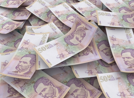 pesos: 50000 colombian pesos, Financial Concept Stock Photo