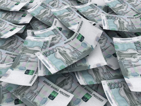 roubles: Russian roubles currency background Stock Photo