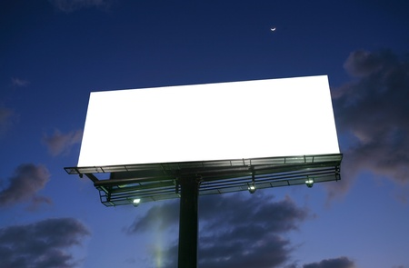 Billboard at sunset with new moon Stock Photo - 16960266