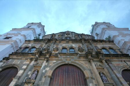 wide angle picture of a Panama Cathedral in the sunset Stock Photo - 16960276