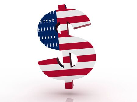 Three dimensional render of the American Dollar symbol  Stock Photo - 17072835