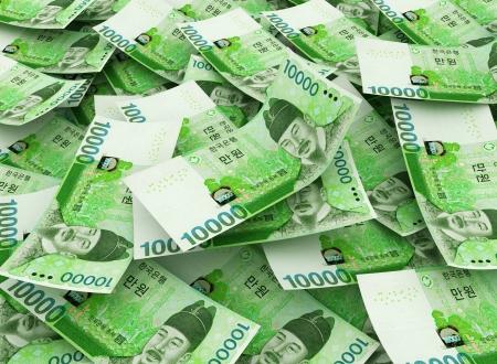 10,000 won South Korean Bills  Stock Photo - 17072848