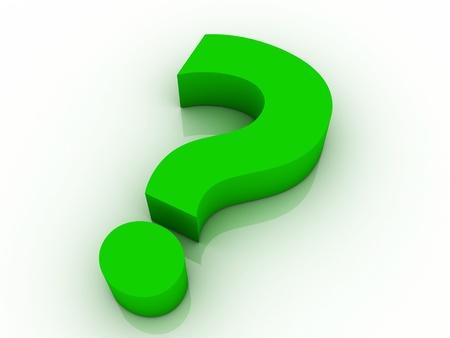 green 3d question mark  photo