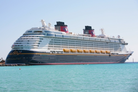 castaway: NASSAU-FEB 5: Disney Dream, a new cruise ship, enters in Nassau, Feb 5, 2012. The 130,000-ton vessel is the 3th Disney Cruise Line ship.