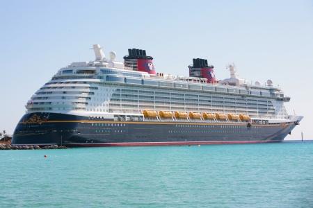 NASSAU-FEB 5: Disney Dream, a new cruise ship, enters in Nassau, Feb 5, 2012. The 130,000-ton vessel is the 3th Disney Cruise Line ship.