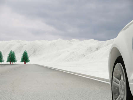 cold weather: Driving in a place full of snow