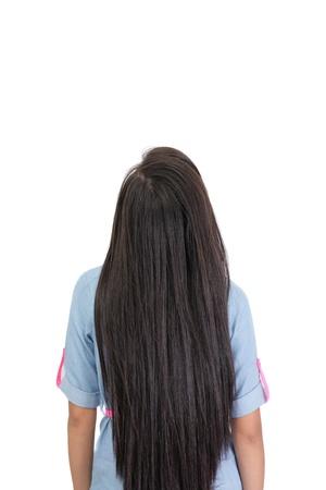 back of woman: vista de una mujer de nuevo