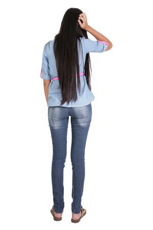 cuerpo entero: mujer de cuerpo completo de la espalda