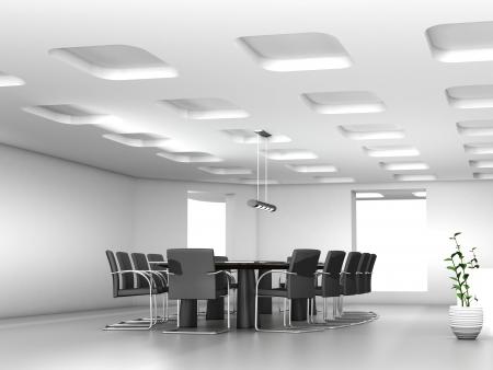 mobilier bureau: Table de conf�rence et des chaises dans la salle de r�union