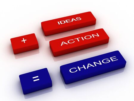 open minded: words Ideas, Action and Change