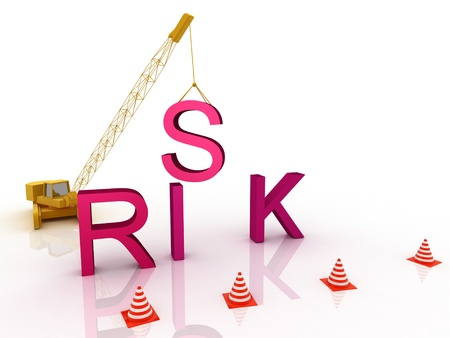 Risk letters falling apart  Stock Photo