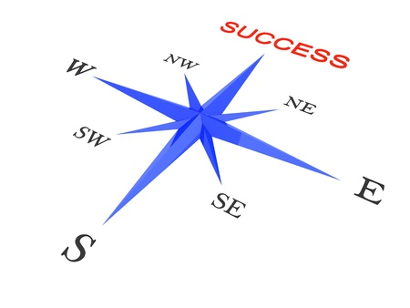 stay at the course: success concept