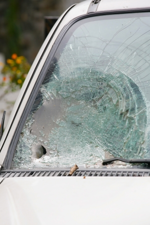 Broken Windshield Stock Photo - 19242696