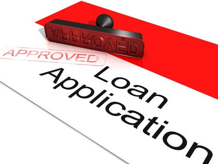 Loan Application Approved Showing Credit Agreement  photo