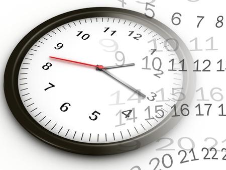 Open de klok rond, 24 uur per dag en 7 dagen per week Stockfoto