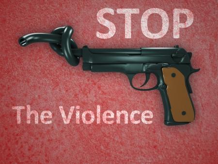 stop signs: No gun violence symbol Stock Photo