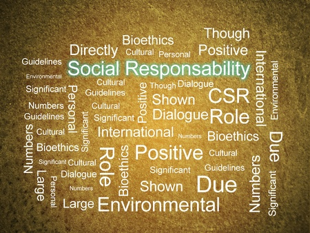 corporate responsibility: Corporate Social Responsibility in word collage