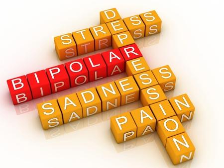 3d Bipolar disorder background  Standard-Bild