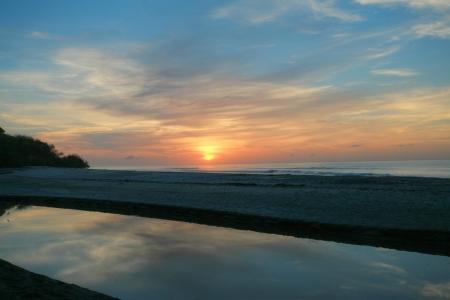 sunsets: Beautiful landscape with a sunrise