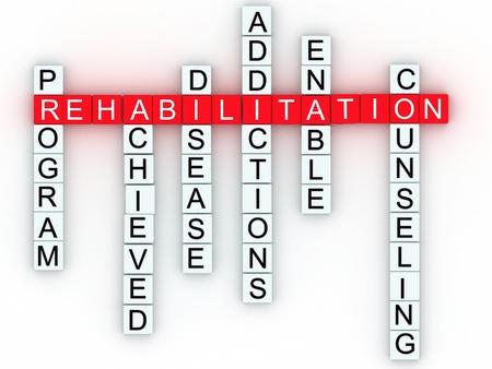 terapia ocupacional: Rehabilitación concepto de mensaje médica.