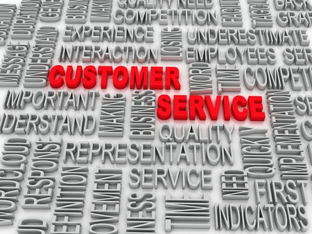 response time: Background concept wordcloud illustration of customer service  Stock Photo