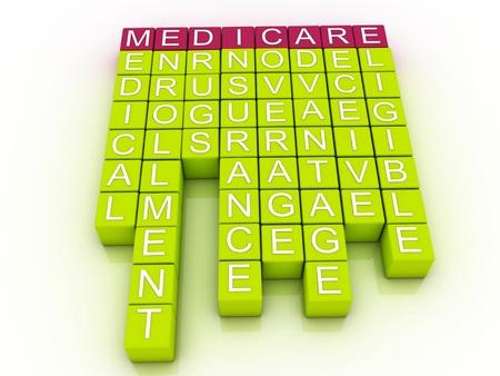 健康などの偉大な用語をメディケア単語雲の概念