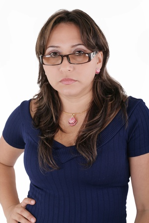 Business woman angry photo