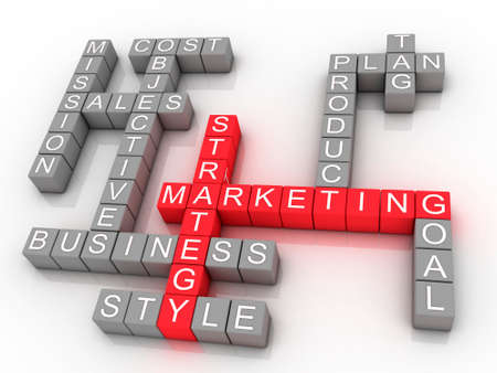Marketing strategy related words photo