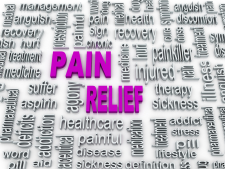 pain relief: 3d pain relief concept illustration design