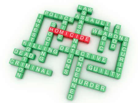 homicide: 3d imagen, Homicide and crime concept