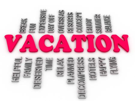 deserved: 3d Vacation family, arrangement concept