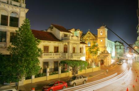 viejo: Panama City, Casco Viejo in the night