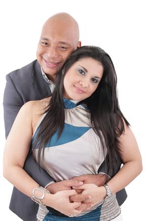 Happy mixed race couple photo