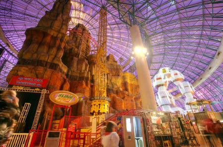 LAS VEGAS - CIRCA 2014: Adventure dome amusement park in Circus Circus Hotel in Las Vegas on CIRCA 2014.  It has The world's largest indoor double-loop, double-corkscrew roller coaster.