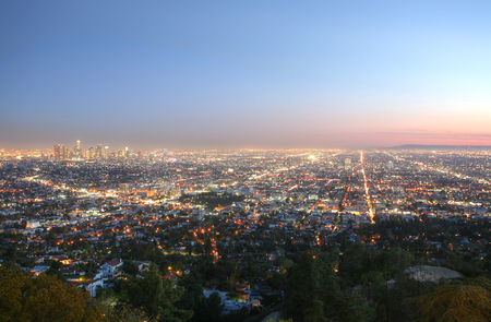 los angeles county: Los Angeles at sunset Stock Photo