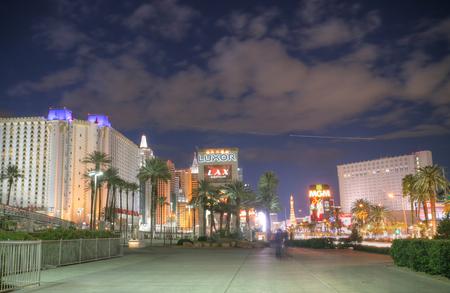 LAS VEGAS - FEB 3.   Vegas Strip in the sunset on February 3, 2014 in Las Vegas.