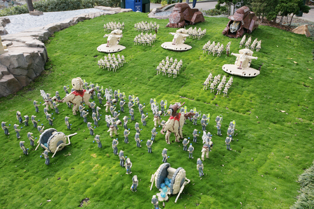 starwars: CARLSBAD, USA, CIRCA 2014: Nabo of Starwars designed with Lego on Carlsbad, USA on CIRCA 2014. Its a battle of droids to control the planet and represent the capital city.