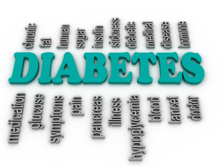 3d imagen Word cloud - diabetes  photo