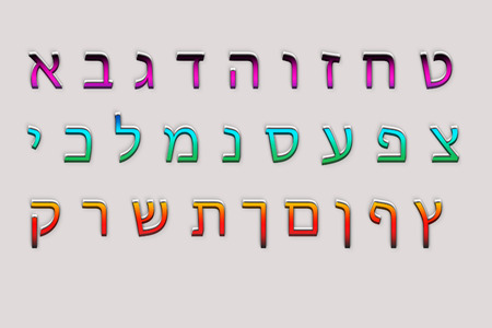 Hebrew alphabet letters and characters   photo