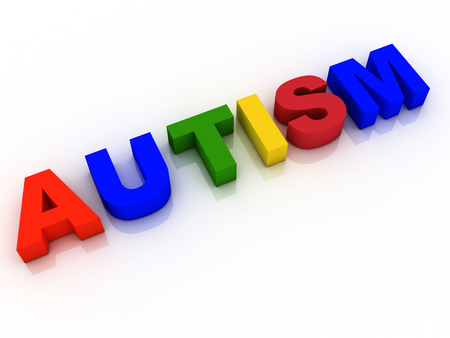 developmental: Autism Word Background Hope Research  Stock Photo