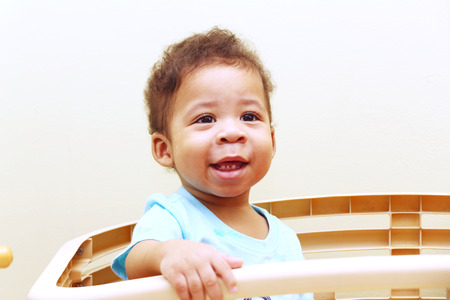 Closeup of beautiful face of African baby  Stock Photo